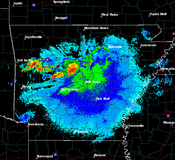 Radar Image for Severe Thunderstorms near Plainview, AR at 5/4/2020 11:57 PM CDT