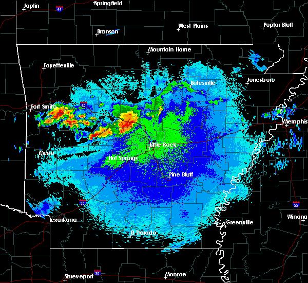 Radar Image for Severe Thunderstorms near Plumerville, AR at 5/4/2020 11:58 PM CDT