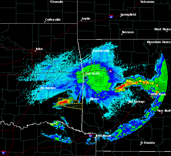 Radar Image for Severe Thunderstorms near Albion, OK at 5/5/2020 1:00 AM CDT