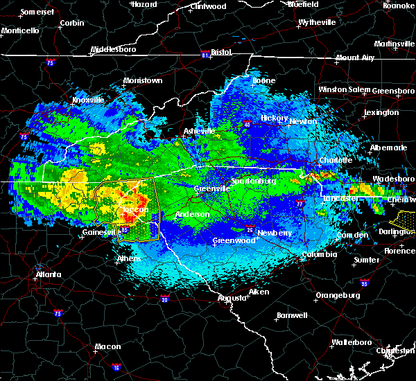 Radar Image for Severe Thunderstorms near Arial, SC at 5/5/2020 2:03 AM EDT