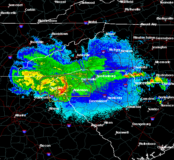 Radar Image for Severe Thunderstorms near Gumlog, GA at 5/5/2020 2:19 AM EDT