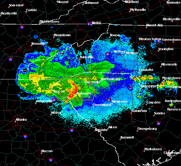 Radar Image for Severe Thunderstorms near Arial, SC at 5/5/2020 2:33 AM EDT