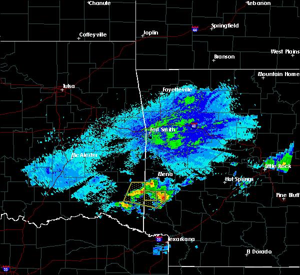 Radar Image for Severe Thunderstorms near Dierks, AR at 5/5/2020 2:31 AM CDT