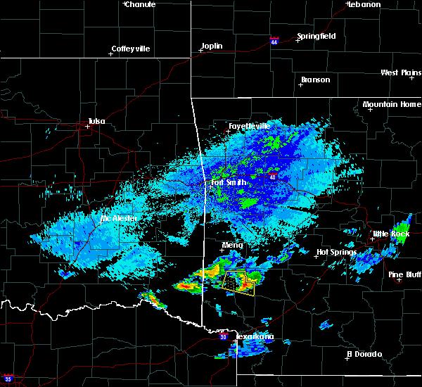Radar Image for Severe Thunderstorms near Dierks, AR at 5/5/2020 2:49 AM CDT
