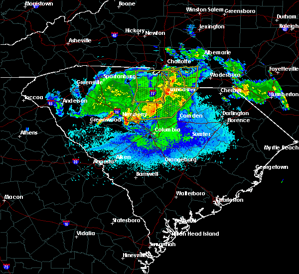 Radar Image for Severe Thunderstorms near JAARS, NC at 5/5/2020 4:36 AM EDT