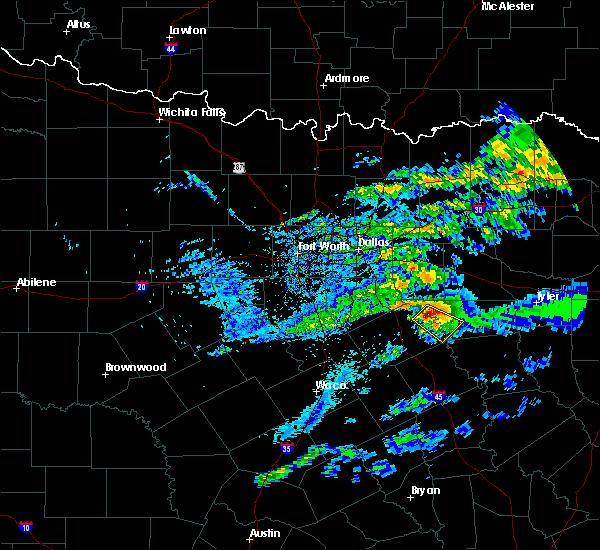 Radar Image for Severe Thunderstorms near Malakoff, TX at 5/5/2020 6:53 AM CDT
