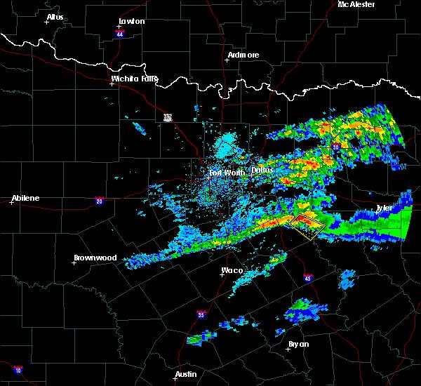 Radar Image for Severe Thunderstorms near Malakoff, TX at 5/5/2020 7:20 AM CDT