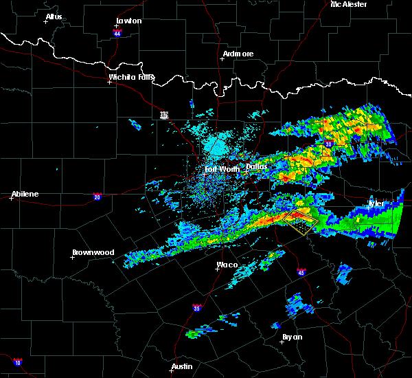 Radar Image for Severe Thunderstorms near Malakoff, TX at 5/5/2020 7:29 AM CDT