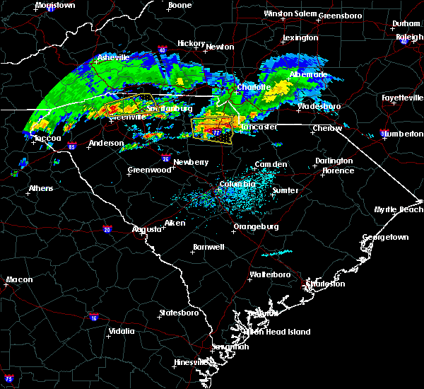 Radar Image for Severe Thunderstorms near Richburg, SC at 5/5/2020 6:38 PM EDT
