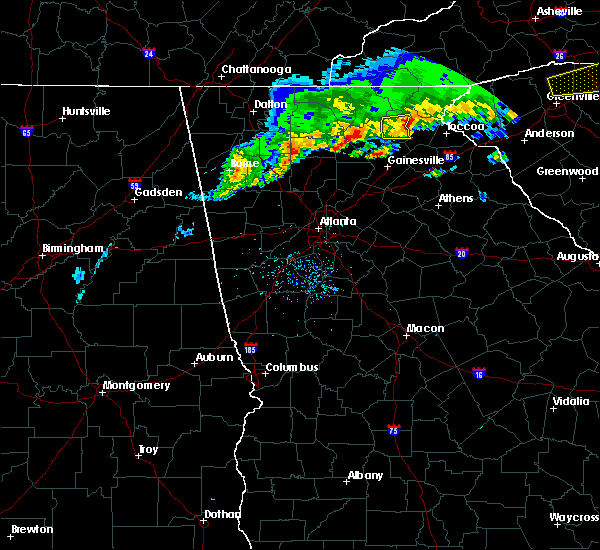 Radar Image for Severe Thunderstorms near Clermont, GA at 5/5/2020 6:45 PM EDT