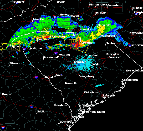 Radar Image for Severe Thunderstorms near Heath Springs, SC at 5/5/2020 6:58 PM EDT