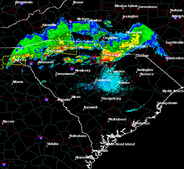 Radar Image for Severe Thunderstorms near Heath Springs, SC at 5/5/2020 7:07 PM EDT