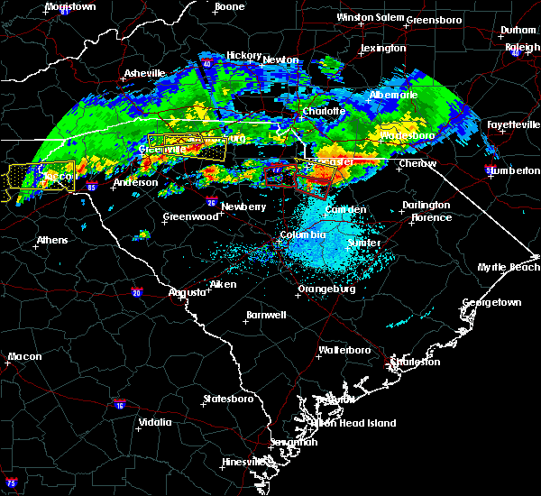 Radar Image for Severe Thunderstorms near McBee, SC at 5/5/2020 7:16 PM EDT