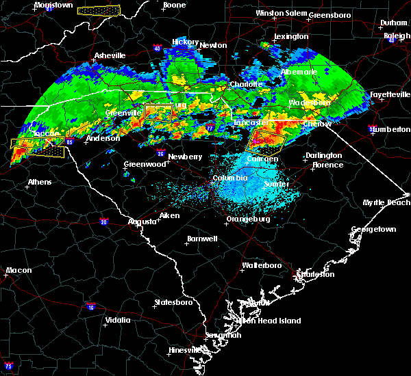 Radar Image for Severe Thunderstorms near McBee, SC at 5/5/2020 7:36 PM EDT