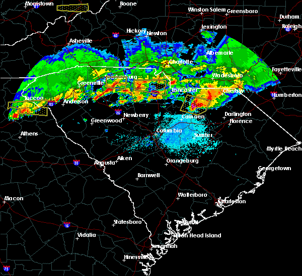 Radar Image for Severe Thunderstorms near Richburg, SC at 5/5/2020 7:45 PM EDT