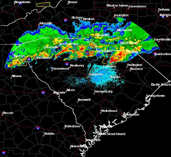 Radar Image for Severe Thunderstorms near Jefferson, SC at 5/5/2020 7:52 PM EDT