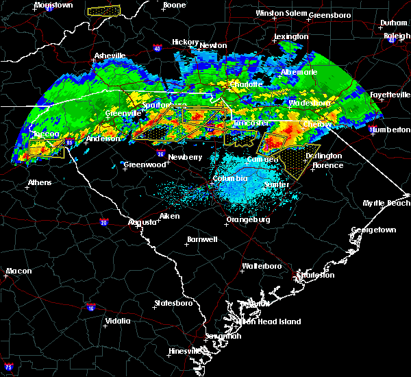 Radar Image for Severe Thunderstorms near Lydia, SC at 5/5/2020 7:54 PM EDT