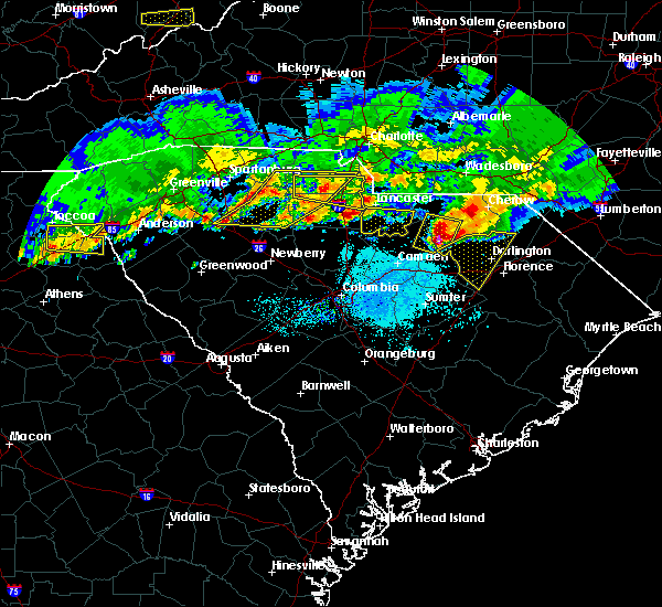 Radar Image for Severe Thunderstorms near Heath Springs, SC at 5/5/2020 7:55 PM EDT