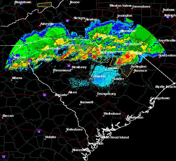 Radar Image for Severe Thunderstorms near Patrick, SC at 5/5/2020 8:03 PM EDT