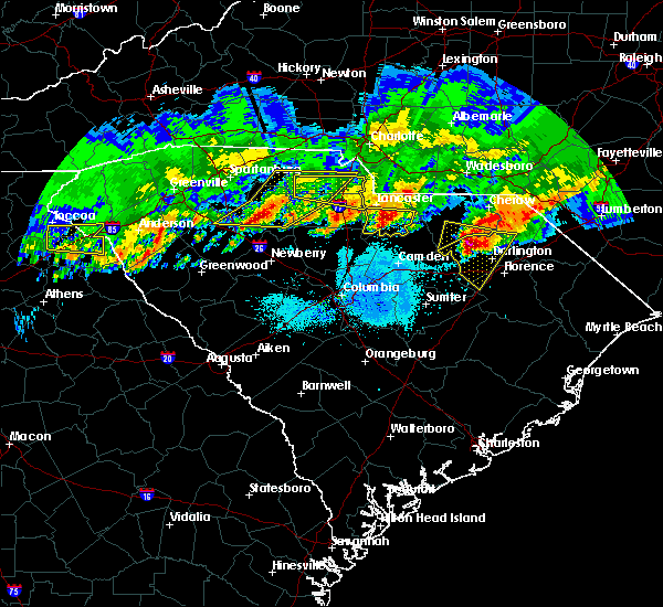 Radar Image for Severe Thunderstorms near Heath Springs, SC at 5/5/2020 8:15 PM EDT