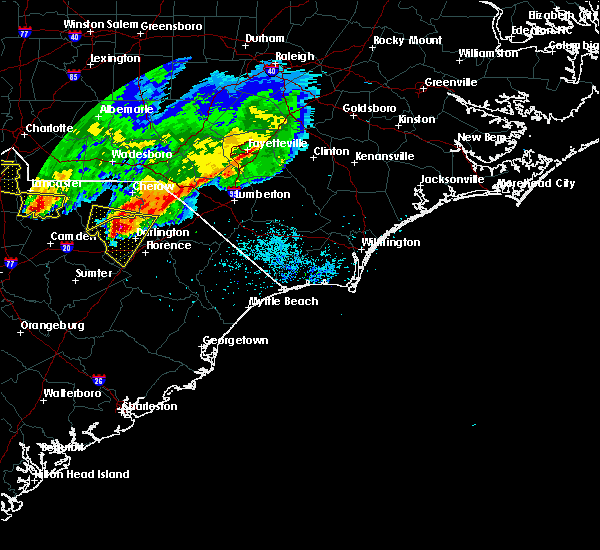 Radar Image for Severe Thunderstorms near Pembroke, NC at 5/5/2020 8:21 PM EDT