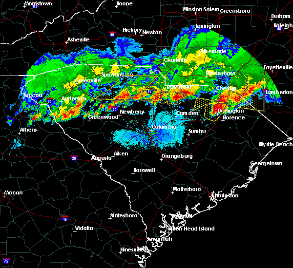 Radar Image for Severe Thunderstorms near Heath Springs, SC at 5/5/2020 8:30 PM EDT