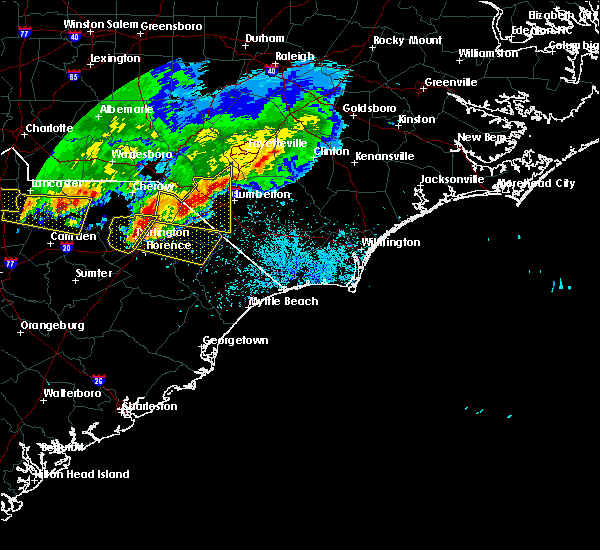Radar Image for Severe Thunderstorms near Florence, SC at 5/5/2020 8:35 PM EDT