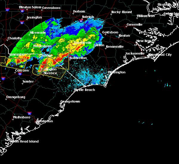 Radar Image for Severe Thunderstorms near Dillon, SC at 5/5/2020 8:35 PM EDT