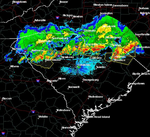 Radar Image for Severe Thunderstorms near Winnsboro, SC at 5/5/2020 8:38 PM EDT