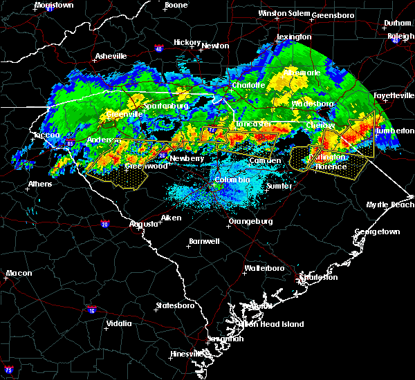 Radar Image for Severe Thunderstorms near Richburg, SC at 5/5/2020 8:41 PM EDT