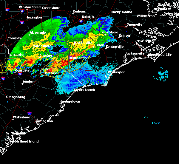 Radar Image for Severe Thunderstorms near Pembroke, NC at 5/5/2020 8:56 PM EDT