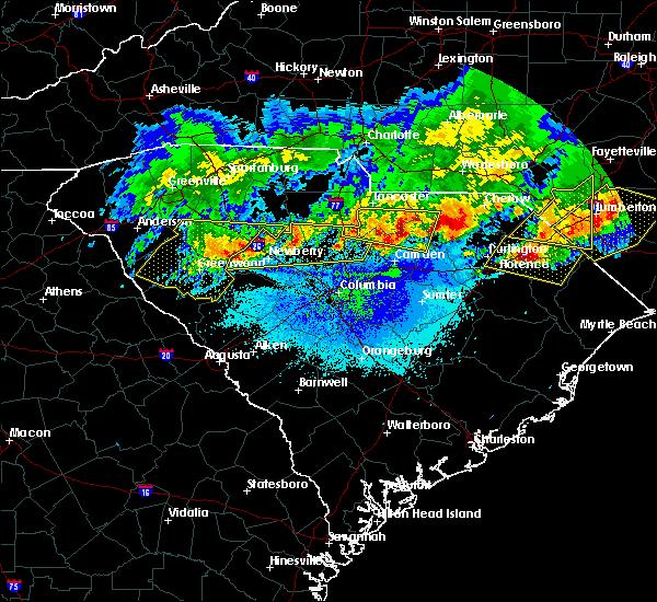 Radar Image for Severe Thunderstorms near Jefferson, SC at 5/5/2020 9:02 PM EDT