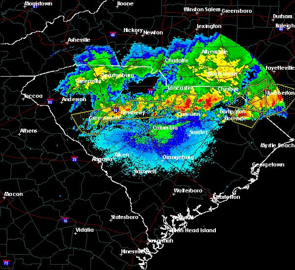 Radar Image for Severe Thunderstorms near Jefferson, SC at 5/5/2020 9:10 PM EDT
