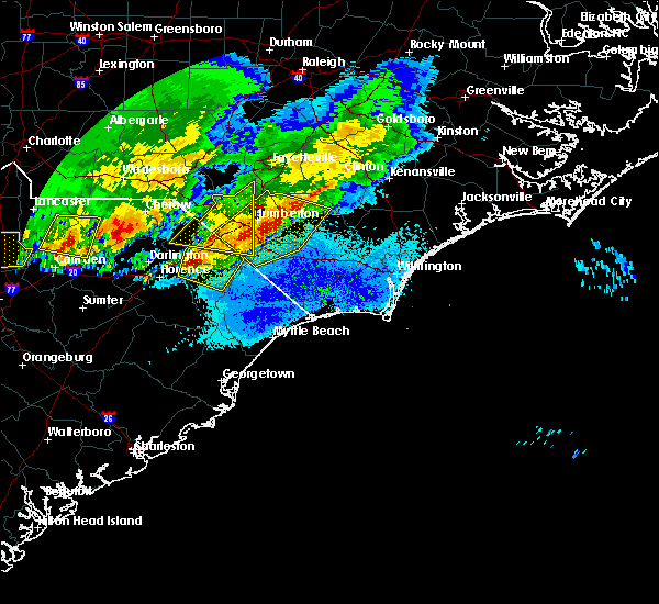 Radar Image for Severe Thunderstorms near Pembroke, NC at 5/5/2020 9:10 PM EDT