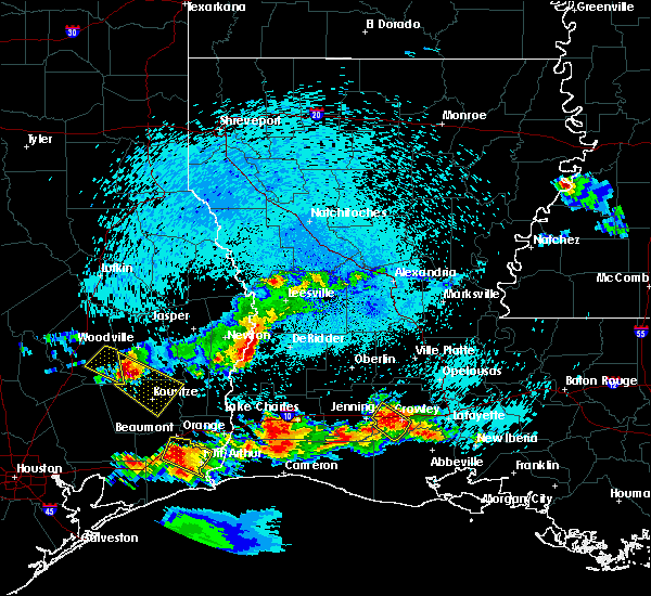 Radar Image for Severe Thunderstorms near Longville, LA at 5/5/2020 9:18 PM CDT