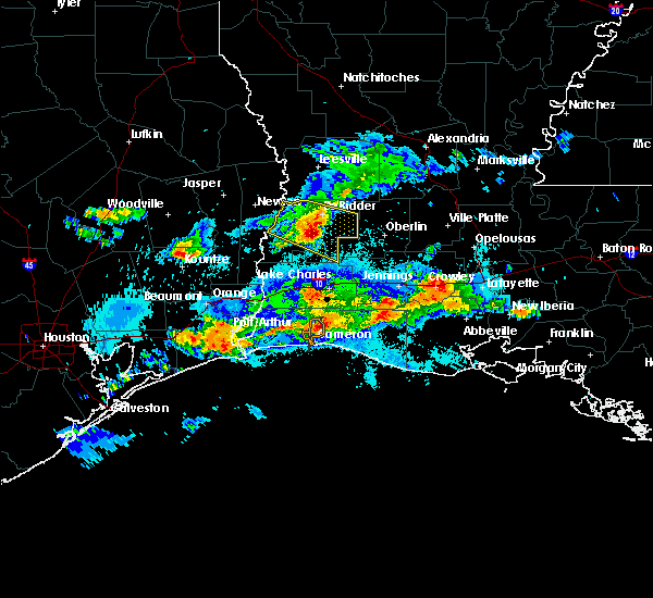 Radar Image for Severe Thunderstorms near Longville, LA at 5/5/2020 9:42 PM CDT
