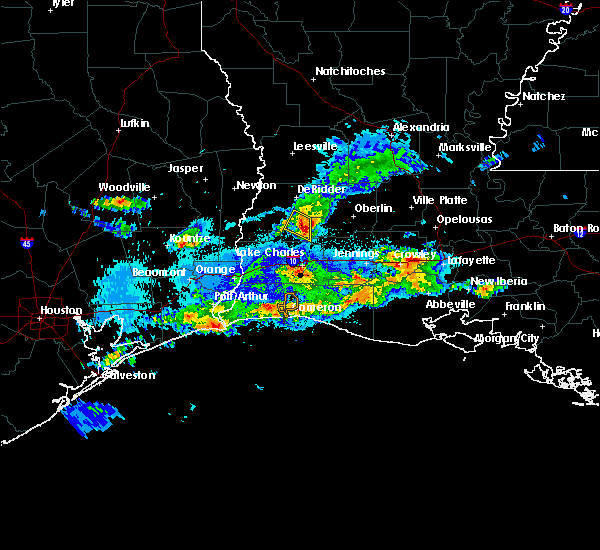 Radar Image for Severe Thunderstorms near Longville, LA at 5/5/2020 9:58 PM CDT