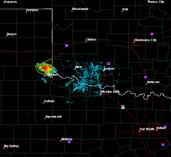 Radar Image for Severe Thunderstorms near Dodson, TX at 5/7/2020 5:22 PM CDT