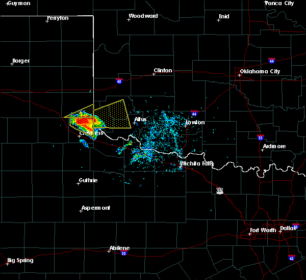 Radar Image for Severe Thunderstorms near Dodson, TX at 5/7/2020 5:33 PM CDT