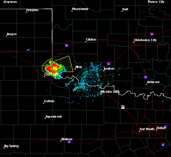Radar Image for Severe Thunderstorms near Dodson, TX at 5/7/2020 5:39 PM CDT