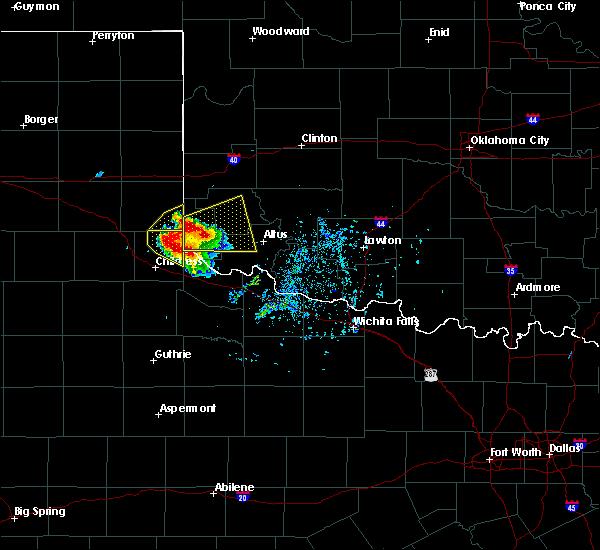Radar Image for Severe Thunderstorms near East Duke, OK at 5/7/2020 5:42 PM CDT