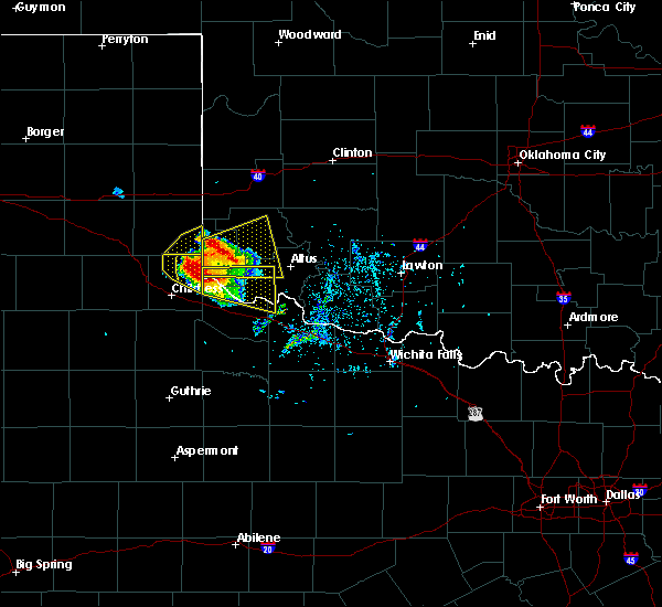 Radar Image for Severe Thunderstorms near East Duke, OK at 5/7/2020 5:48 PM CDT