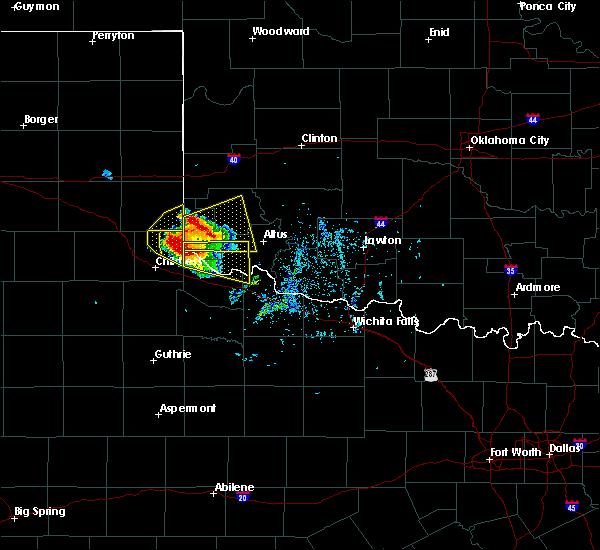 Radar Image for Severe Thunderstorms near East Duke, OK at 5/7/2020 5:47 PM CDT