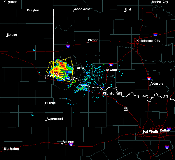 Radar Image for Severe Thunderstorms near Dodson, TX at 5/7/2020 5:58 PM CDT