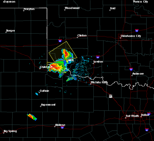 Radar Image for Severe Thunderstorms near Chillicothe, TX at 5/7/2020 6:23 PM CDT