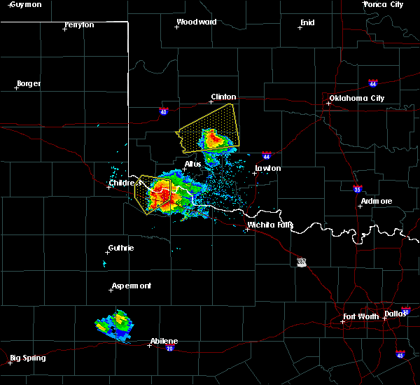 Radar Image for Severe Thunderstorms near Chillicothe, TX at 5/7/2020 6:51 PM CDT