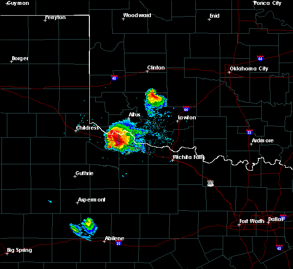 Radar Image for Severe Thunderstorms near Gotebo, OK at 5/7/2020 6:56 PM CDT