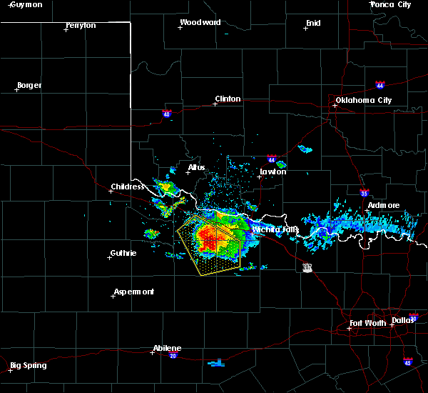 Radar Image for Severe Thunderstorms near Holliday, TX at 5/7/2020 7:56 PM CDT