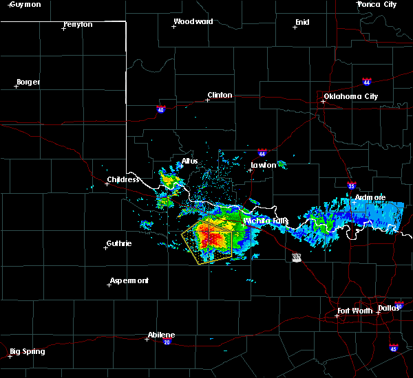 Radar Image for Severe Thunderstorms near Holliday, TX at 5/7/2020 8:06 PM CDT