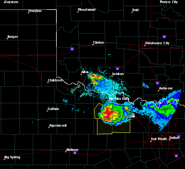 Radar Image for Severe Thunderstorms near Scotland, TX at 5/7/2020 8:46 PM CDT